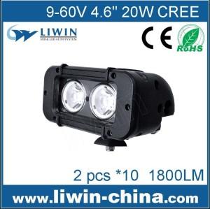 Liwin оптовой высокое качество 4.6 дюйм одну строку 20w свет водить автомобиль водить светлая полоса для всех легковых автомобилей автобус головная лампа