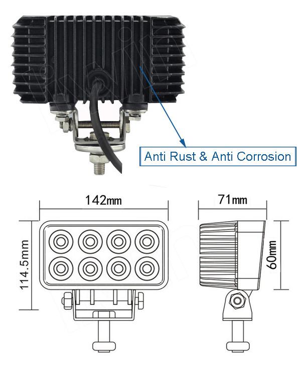 liwin 브랜드 LW 24w 휴대용 주도 작업 등이 vehice ATV SUV ATV 자동차 부품 자동 조명 4X4 액세서리