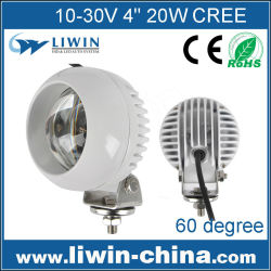 Ip67 10-60v 20w ronda led lw off road de trabajo de la luz del coche de cabeza de la lámpara de la cola de luces