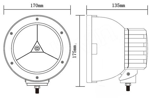 liwin IP67 45w 차량 브랜드 높은 전력 주도 작업 빛 skoda 자동