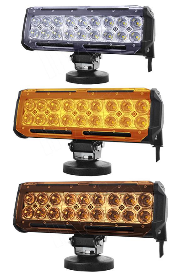 larga vida útil de más de 50000 horas lw chip 2 filas barra de luz led 18w offroad barra de luz led