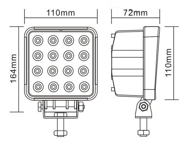 Liwin novo produto mais popular de alta qualidade 12v 24v auto diodo emissor de luz de trabalho, lw diodo emissor de luz de trabalho jeep wrangler