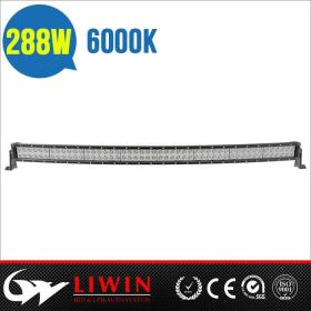 hotsale 288w waterproof 50 inch curved led light bart for trucks SUV,off road led light bar