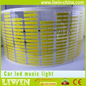 حار بيع liwin 2015 سيطرة صوت الموسيقى الخفيفة الصمام الخفيفة للحصول على إيقاع الموسيقى geniss 4x4 السيارات على الطرق الوعرة جيب مصباح مصابيح السيارات