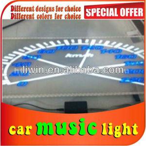 أعلى بيع سيارة يقودها 10cm*90cm led الموسيقى صوت تنشيط التعادل متعددة الألوان وامض الموسيقى مصباح للسيارات