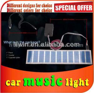 منتجات جديدة وتطويرها liwin 70x16cm إيقاع الموسيقى سيارة مصباح ملصقا متعددة الألوان وامض الموسيقى لمصباح كروزر سيارة التبعي