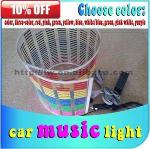 شعبية بيع إيقاع الموسيقى سيارة مصباح مصباح سيارة زرقاء إيقاع الموسيقى سليمة لمراقبة الضوء أحدث rgb بقيادة المراقب الموسيقى