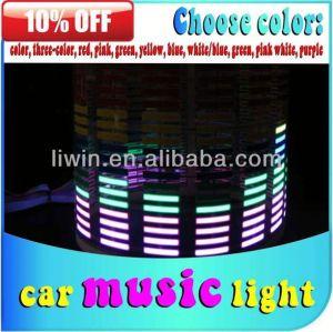 من السهل تركيب الموسيقى تنشيط أضواء الديسكو أدى أدى ضوء مصباح الاسمية 12v الموسيقى تنشيط الموسيقى الخفيفة سيارة dc تزيين مصباح