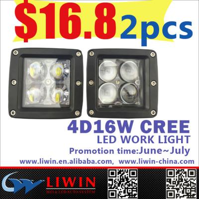 LW lowest price high quality 4D 30 led swivel work light 4pcs led *3w