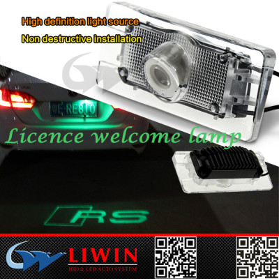 2015 best selling led ghost shadow car logo light for audi