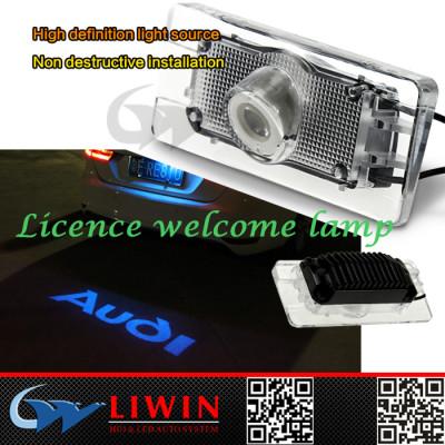 LW led logo light back cover for all cars Licence plate logo light