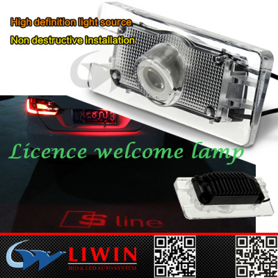 Hot sale led car door logo light ghost shadow tail light 3rd Licence plate logo light