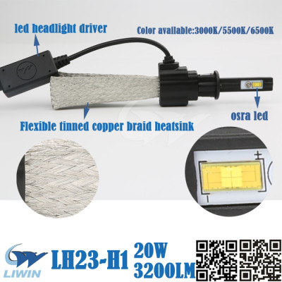 Liwin wholesale high-end quality hiway car front light 12v led headlamp made in china H1
