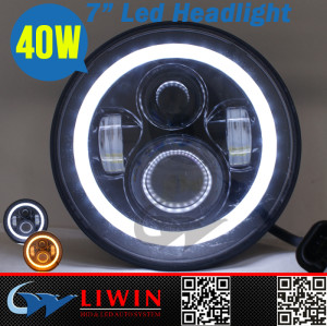 LW new product 10-30V headlight bulb led IP67 cre e 7inch 40w high low beam auto car led light fo Jeep Wrangler