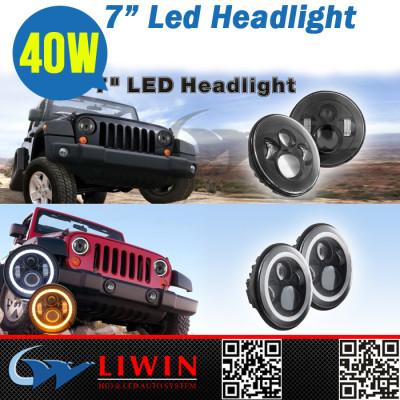 LW top class high intensity ce certified alibaba china wholesale hii car led car headlight 40w 7