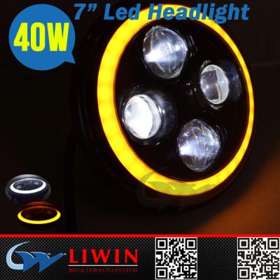 LW ce e-mark offer super bright led headlight bulbs ip67 white & yellow color feseoon offroad atv led car light