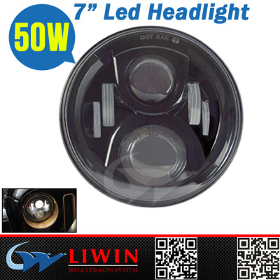 Liwin new product 2016 7inch round car led head light 12v 50w long life induction headlights led