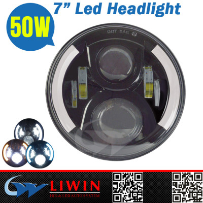 Directly manufacturer 10-30v LW-LH0750A high power car led auto headlights 50w 40000h long life car led tuning light for jee p