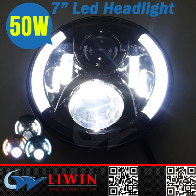 2015 new arrival 7inch 50w car led headlight bulbs 12v 24v
