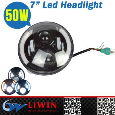 LW hot quality 7inch 50w led 12v24v light car automobile led headlight kit housing