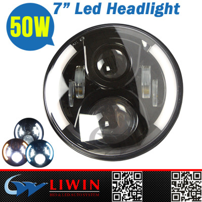 Liwin 2015 Hot sale 10-30v led work light headlight 50w led auto motorbike headlight for jeep wrangler