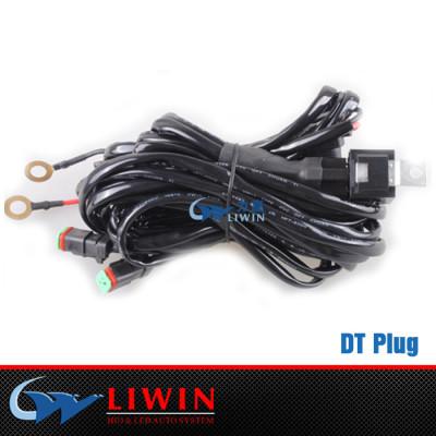 lowest price high quality 12 volt led light bar Automotive DT Male Plug off road led light bar wire harness