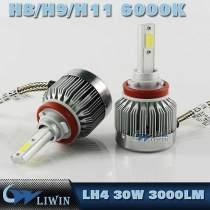 Car Auto LED Headlight Light Lamp Kit Set White 3000lumen 30W H7,H9,H11,h4,h13,9006