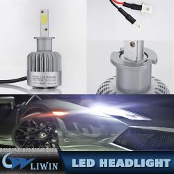 Faros autoLed para los coches Motocicletas C6 llevó la lámpara ligera principal 36W llevó la linterna H1 h3 h4 H7 h11 h13 9007 9004 9005 9006 h4