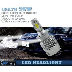 Fabricante verdadero Venta al por mayor todo en un coche Iluminación ULTRAVIOLETA llevó el faro 80w H1 llevó los bulbos del coche