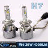 LVWON 35W 4000LM 12V Car Led Headlight 9005 H1 H3 H7 H8 H9 H11 9006 Led Head Lamp IP67 Car Bed With Light hot sale shadow light