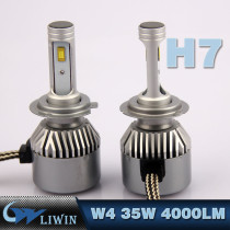 LVWON Easy Installation H7 Led Car Light H3 Led 12V Cob Headlight 35W Automotive Led Bulb 4000lm 12V Car Led Headlight hot sale led car logo