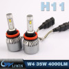 Newest W4 Led Headlight Bulb Competitive Price 4000lm All In One Design 12V Car Led Light 9005 H8 H9 H11 Led Light Headlight new car logos with names