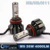 LVWON Guangzhou High Quality H11 6000K Auto Lights Car LED Head Light 35W 4000LM no drill led door courtesy light