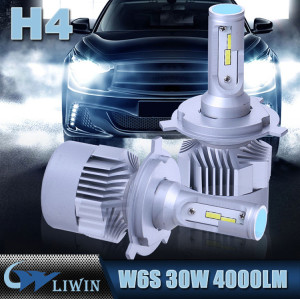 LVWON H7 Flips LED Headlight Kit Q4 Auto LED Bulb 33W 3800LM Car Headlight H4 Hi/lo New Design Led Car Light hot sale car door ghost shadow led light