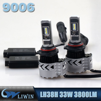 LVWON Headlight LED In Auto Lighting System H4 H13 9007 9004 Car Led Headlight T6 33W 3800LM car logos with names for cars