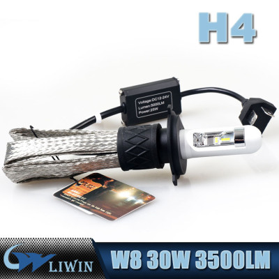 LVWON Car Lights Led 30W 3500LM Copper Strip Led Headlight Motorcycle W8 X4 Led Car Ring Light Auto car LED interior rhythm light music