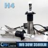 LVWON Best Selling Led Lights IP67 Waterproof Offroad Wholesale 30W Led Light Bars Auto Led Headlight X4 H4 Led Car Bulb hot sale and cool led car logo door light