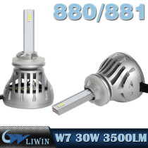 LVWON LED Car Lights 30W 60W High Quality 3500lm LED Car Headlight 880 881 Accessories Car Led hottest car logo light