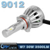 LVWON High Power Head Light Lamp L6 30W 3500LM 9012 12V Led Headlight Bulb newest style led ghost shadow car logo light
