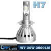 LVWON H4 Car Foglight 7000lm LUMILEDS-MZ Super Brightness HS5 Led Headlight L6 LED Kit 30W 3500LM H7 hot selling car logos light with names car logo ghost shadow light