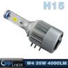 LVWON 36W 4000LM 6000K H1 H3 H4 H7 H15 Auto Lighting Car Lamp LED No Line 12V H16 Led Headlight hot selling 12v 5w car ghost shadow light
