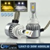 LVWON Auto LED Lighitng Error Free Canbus 36W Car LED Headlight D33 9005 9006 LED Headlight Kit For Motorcycles Led Car Ghost Shadow Light LED Projector Lamp for Door