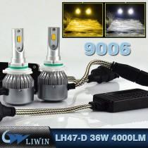 LVWON LED Auto HB4 9006 Headlight 72W Plips Chip Car Headlamp Foglight Bulb Kit 4000LM Led Light Kit Motor car door ghost shadow led light led ghost shadow car logo light
