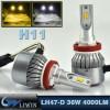 LVWON NEW 4000lm 36W/Bulb H8 H9 H11 Led Headlight Conversion Kit 6000K Lamp Foglight 3000K Led For Trucks Headlights 12v 5w new 8th version led car door logo laser projector light