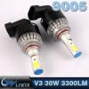 LVWON Car Head Light 3300LM 2pcs 30w Led Bulb H7 12V 24V Led Light 9005 HB3 Led Headlight cree chip 12v 3w 5w foreign car logos