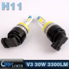 LVWON H8 H9 H11 Head Light 30W 3300lm Car H4 Led Headlamp Bulbs 6000K F150 Headlight cree chip 12v 3w 5wcar door light