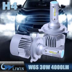 LVWON переворачивается H7 LED Фары Kit Q4 Авто светодиодных ламп 33W 3800LM CAR фара H4 Привет / Наш новый дизайн Свет автомобиля горячая продажа led гирлянда