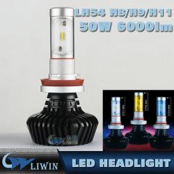 LED Авто Фара лампы H11 880 881 CAR водить Фара Заменить галогенные и HID Kit АВТОМОБИЛЯ лампы 50W светодиодные фары свет горячие свет t10
