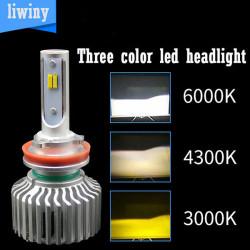 Super Power 60W 7200LM H1 H3 Led Head Lamp И H11 H4 Лазерный светодиодный фонарь для 9005 9006 Автомобильная светодиодная лампа