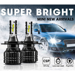 W19 Q5 светодиодный фонарик для автомобилей комплект лампочек H4 H7 H11 белый светодиодный фонарик